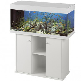 Ferplast Dubai 120 Aquarium 240l - Kombination Weiß