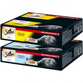 Sheba Portionsbeutel Mega-Multipack in Sauce oder Gelee 120x85g