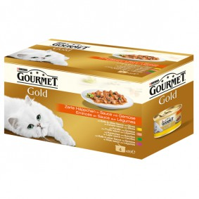 Gourmet Zarte Häppchen mit Gemüse 4er Pack