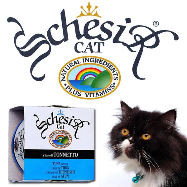 Schesir Katzenfutter in Gelee 14x85g-Dosen - Thunfisch & Krabben