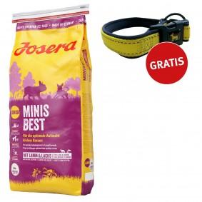 Josera Hundefutter MinisBest 15kg + Reflektionshalsband GRATIS