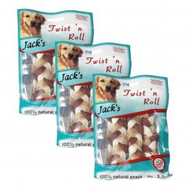 Jack's Hundesnack Twist 'n' Roll 3x3x12,5cm