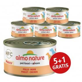 Almo Nature HFC Natural Dog PUPPY mit Huhn 5+1 gratis