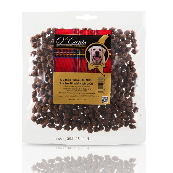 O'Canis Hundesnack Fitness-Bits Hirschfleisch 200g