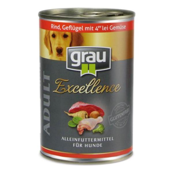 Grau Excellence Adult Rind, Geflügel mit 4erlei Gemüse