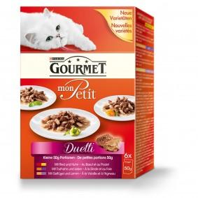 Gourmet Katzenfutter Mon Petit Duetti Fleisch Multipack
