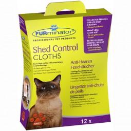 FURminator Shed Control Anti-Haaren Feuchttücher Katze