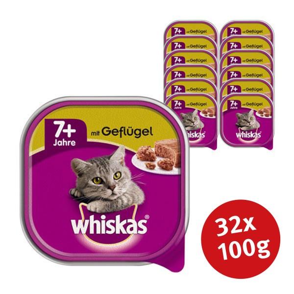 Whiskas Katzenfutter 7+ mit Geflügel 32 x 100g