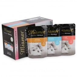 Miamor Ragout Royale Pute, Lachs, Kalb in Jelly Multibox Adult