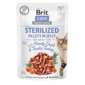 Brit Care Cat Fillets in Jelly Duck & Turkey Sterilized