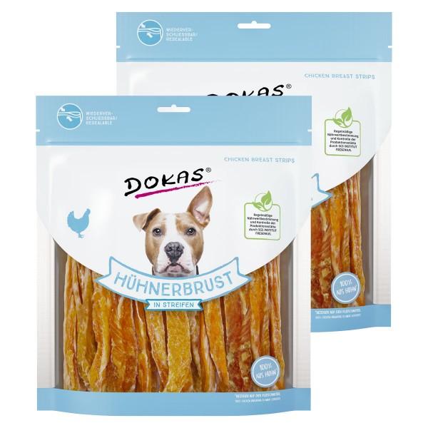Dokas Hundesnack Hühnerbrust in Streifen 2x500g