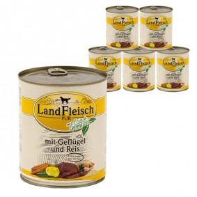 Landfleisch Dog Pur Geflügel & Reis extra mager