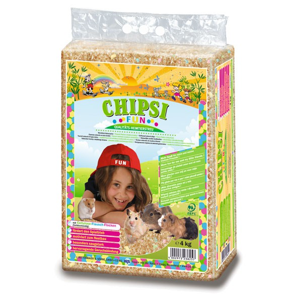 Chipsi Kleintiereinstreu Fun 4 kg