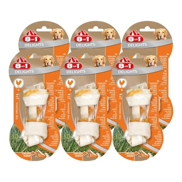 8in1 Delights Hundesnack Kauknochen Chicken/Huhn Größe XS bis L