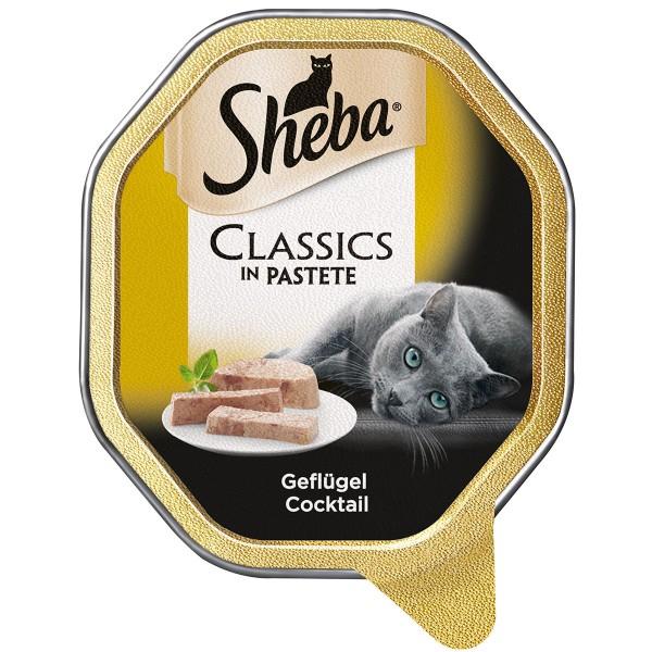 Sheba Katzenfutter Classics in Pastete Geflügel Cocktail