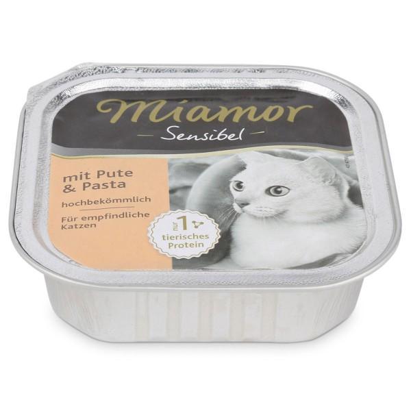 Miamor Katzenfutter Sensibel Pute und Pasta