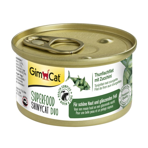 GimCat Superfood ShinyCat Duo Thunfischfilet mi...