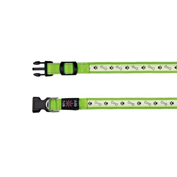 Trixie Flash Leuchthalsband USB grün