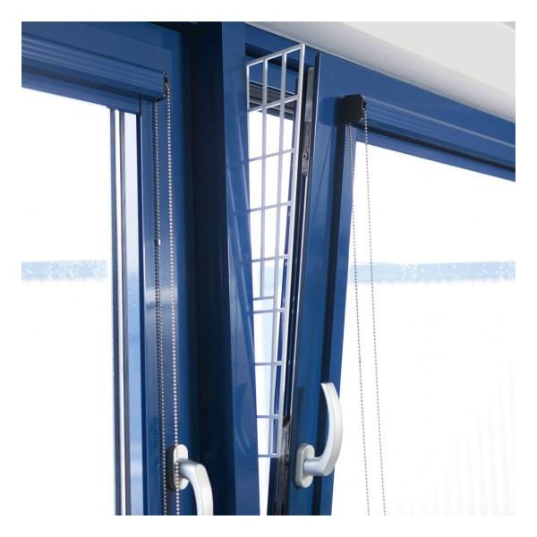 Trixie Schutzgitter für Fenster Seitenteil 62×16/7cm weiß