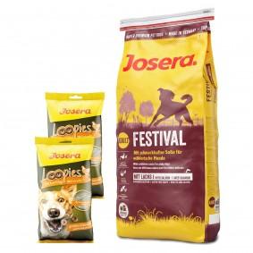 Josera Festival 15kg + Loopies Geflügel 2x150g