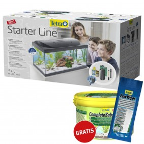 Tetra Starter Line Aquarium LED 54 Liter + Complete Substrate und Easy Wipes gratis
