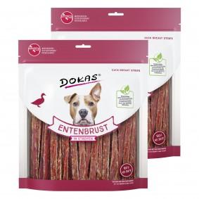 Dokas Hundesnack Entenbrust in Streifen 2x500g