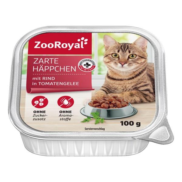 ZooRoyal Zarte Häppchen mit Rind in Tomatengelee