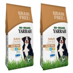 Yarrah Bio Hundefutter Trockenfutter 100% Biologisch 2x10kg