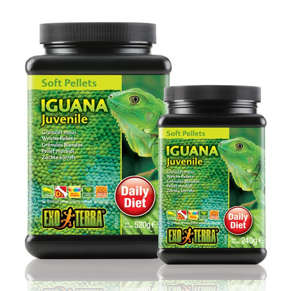 Exo Terra Soft Pellets Iguana Juvenile