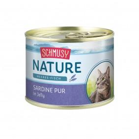 Schmusy Katzenfutter Nature Meeres-Fisch Sardine pur 12x185g