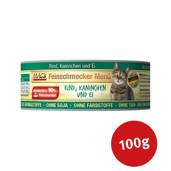MAC's Cat Katzenfutter Feinschmecker Menü Rind, Kaninchen und Ei