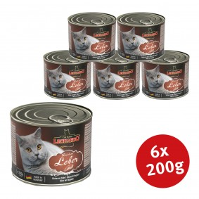 Leonardo Premium Katzenfutter All-Meat 6x200g Reich an Leber
