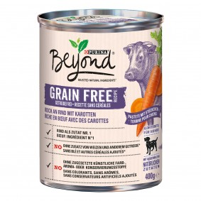 Purina BEYOND® Getreidefrei reich an Rind mit Karotte, Pastete mit Stückchen