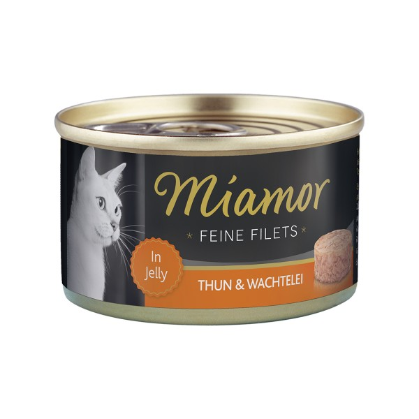 Miamor Feine Filets in Jelly Thunfisch und Wachtelei 100g