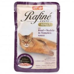 Animonda Katzenfutter Rafiné Soupé Adult mit Rind & Nudeln in Tomatensauce