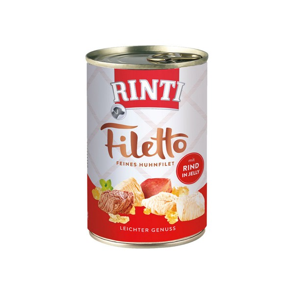 Rinti Hundefutter Filetto Huhn & Rind in Jelly