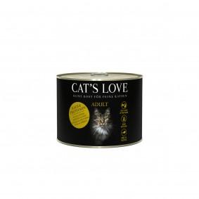 Cat's Love Nassfutter Kalb und Truthahn mit Katzenminze und Leinöl
