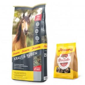Josera Kraut & Rüben 15 kg + Pommelie gratis