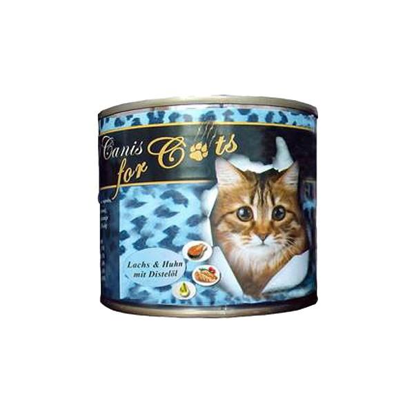 O'Canis Katzenfutter Huhn, Lachs und Distelöl 200g