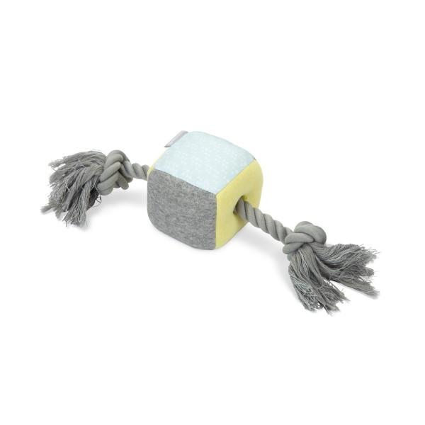 beeztees Puppy Hundespielzeug Kubi mit Seil