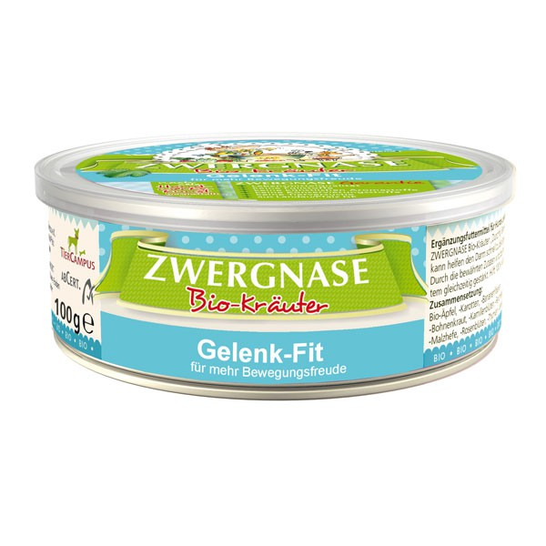 Zwergnase Ergänzungsfutter Bio Gelenk-Fit 100g (51% Bio)
