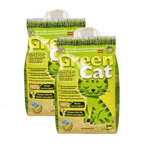 Green Cat Naturklumpstreu 2x24l