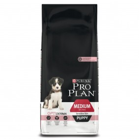 Pro Plan Medium Puppy Sensitive Skin reich an Lachs & mit Reis 12kg