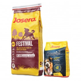 Josera Festival 15kg + Knuspies 900g gratis