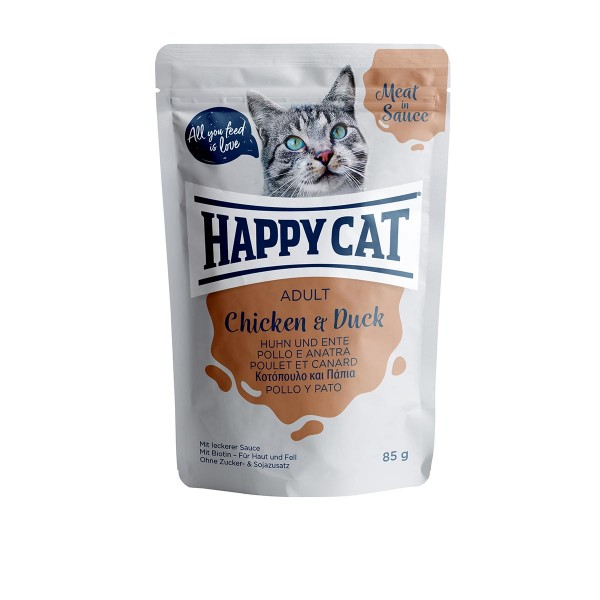Happy Cat Pouches - Meat in Sauce Adult Huhn & Ente