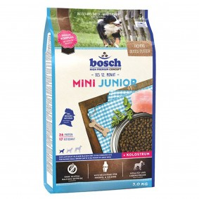 Bosch Hundefutter Mini Junior 3kg 1+1 GRATIS