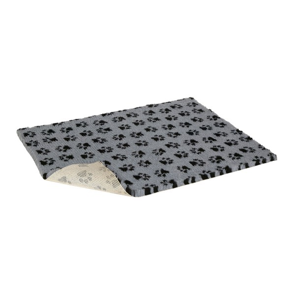 Vetbed Pfotenmotiv grau/schwarz