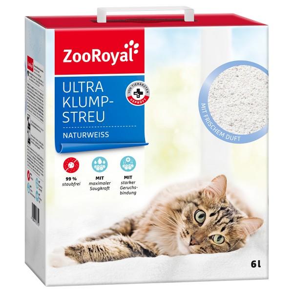 ZooRoyal Ultra Klump-Streu mit frischem Duft naturweiss - 6l