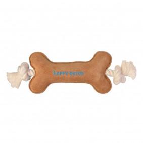 Happy Catch Jouet en cuir en forme d'os pour chiens