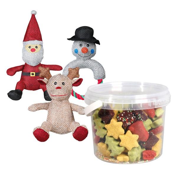 XMAS - Hundespielzeug + Weihnachtssnacks